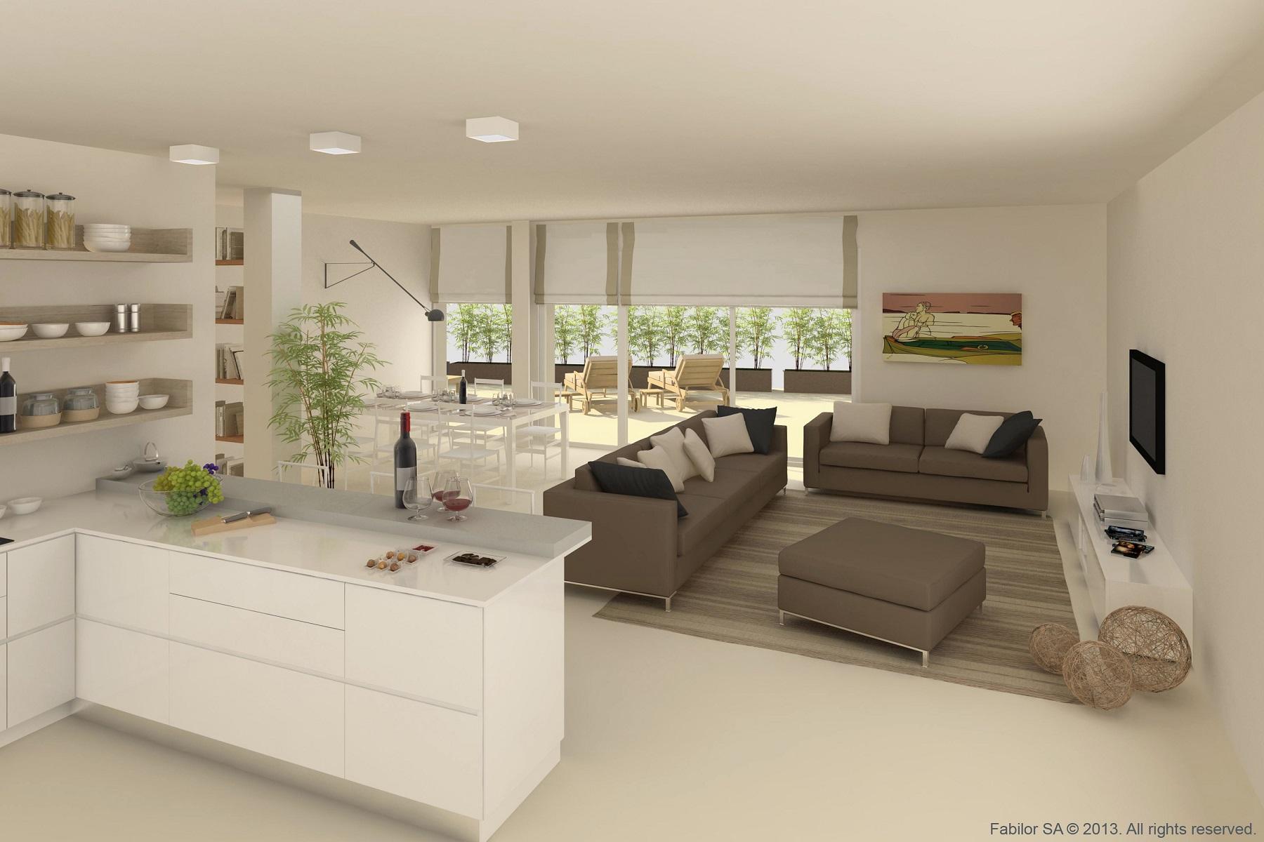 Interni terrazze e domotica degli appartamenti in vendita for Disegni di interni